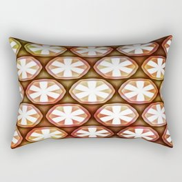 Autumn Flower Octagons Rectangular Pillow