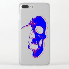 Skull - Blue Clear iPhone Case