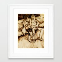 talking heads Framed Art Prints featuring Talking by Red, the artist