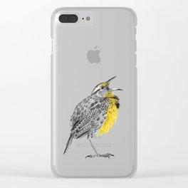 Eastern meadowlark Clear iPhone Case
