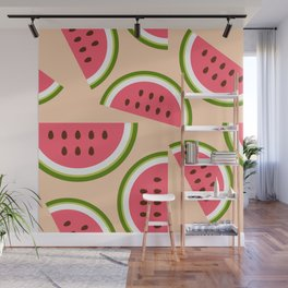 Watermelon pattern Wall Mural