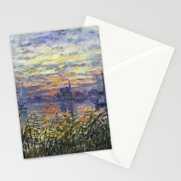 Claude Monet, French, 1840-1926 Marine View with a Sunset Stationery Cards