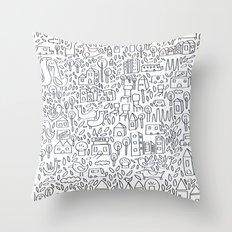 Neighborhood II Throw Pillow