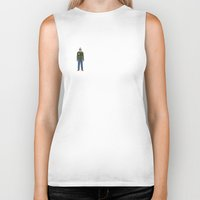 taxi driver Biker Tanks featuring Taxi Driver - Travis Bickle  by V.L4B