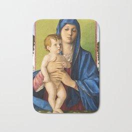 """Giovanni Bellini """"Madonna of the Small Trees (Madonna degli Alberetti)"""" Bath Mat"""