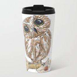 Owl Letter For You Metal Travel Mug