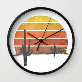 Runnin' Into The Sun Wall Clock