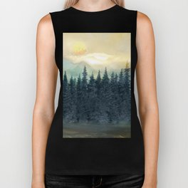 Forest Under the Sunset II Biker Tank