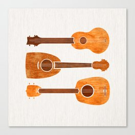 Hawaiian Ukuleles Canvas Print