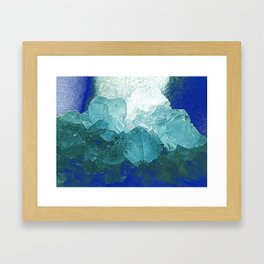 Celestite Abstract Framed Art Print