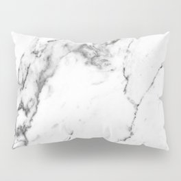 White Marble I Pillow Sham