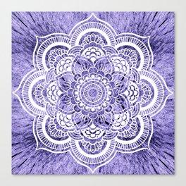 Mandala Lavender Colorburst Canvas Print