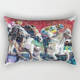 Abstract Race Horses Collage                                         Rectangular Pillow