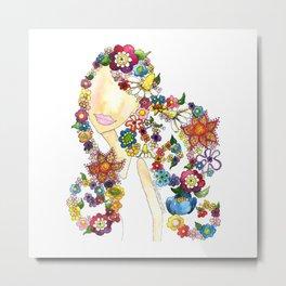 Flower Girl One Metal Print