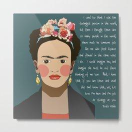 Strange Frida Metal Print