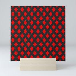 Red rhombs pattern Mini Art Print