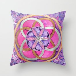 Fower of life Throw Pillow