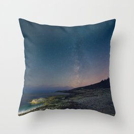 The Milky Way over Duncan's Cove Throw Pillow