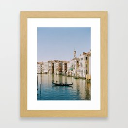 Sunset on the Grand Canal Framed Art Print