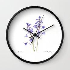 Bluebells Wall Clock