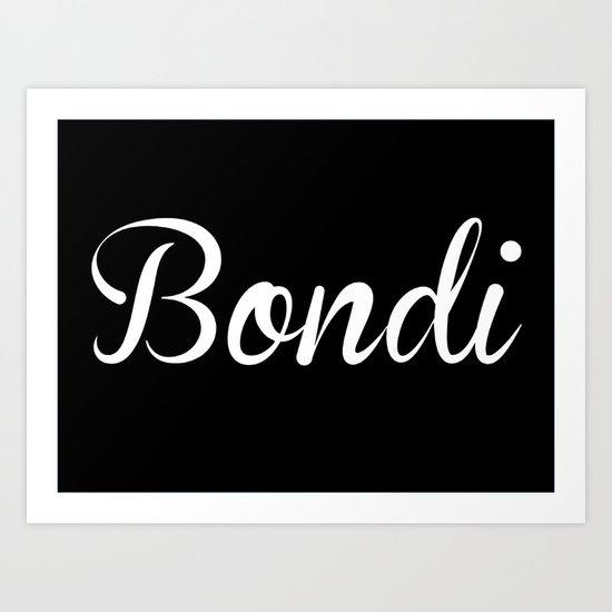 Bondi Art Print