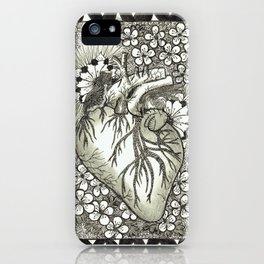 The Anatomical Heart- Organs and Herbs series iPhone Case