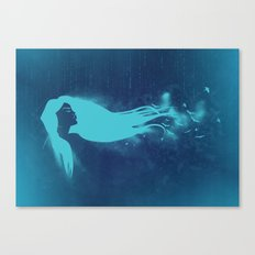 Girl In The Wind Canvas Print