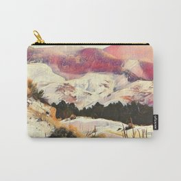 A Winter of Pink Gold Hills by CheyAnne Sexton Carry-All Pouch