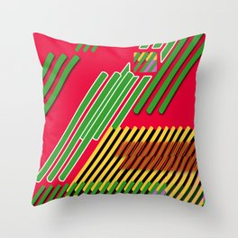 Slicing Pattern—lines and clrs—⁄ ⁄⁄ neå† design!¡!¡!COOOOL!¡!¡!¡! Throw Pillow