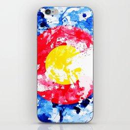 Colorado Watercolor Flag iPhone Skin