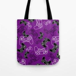 Video Games Purple Tote Bag