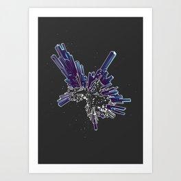 Stibnite Art Print
