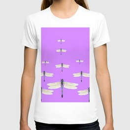 GAUZY WINGED DRAGONFLIES ON LILAC T-shirt
