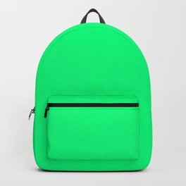 Guppie Green - solid color Backpack