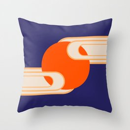 Party Cloudy Skies Throw Pillow
