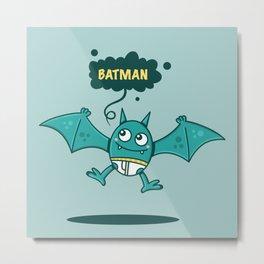 Bat Man Bat Metal Print