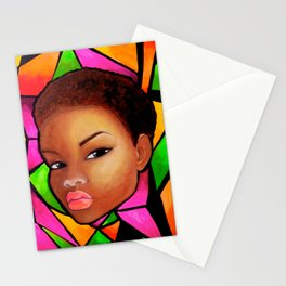 Wise Afro Natural hair Stationery Cards