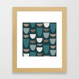 Turquoise Bowls Framed Art Print