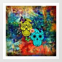 sugar skulls Art Prints featuring Sugar Skulls by haroulita