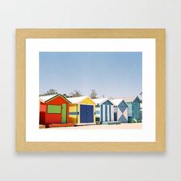 Brighton Beach // Melbourne, Australia Framed Art Print