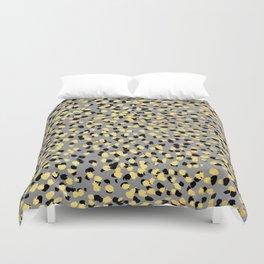 Colvi - leopard animal print gold black and white gender neutral modern trendy non binary art decor Duvet Cover