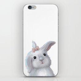 White Rabbit Girl isolated iPhone Skin