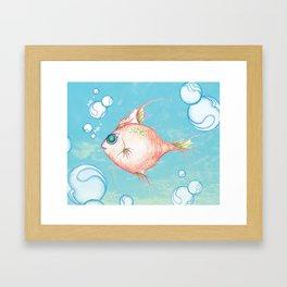 Pink Fish Dreams  Framed Art Print