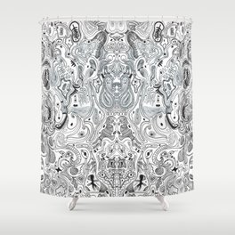 Histological section of my inner world (#4);original version Shower Curtain