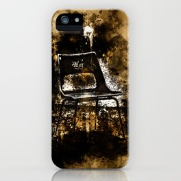 chair at lost place splatter watercolor iPhone Case