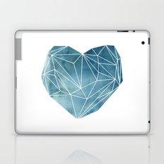 Heart Graphic Watercolor Blue Laptop & iPad Skin