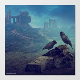The starlings Canvas Print