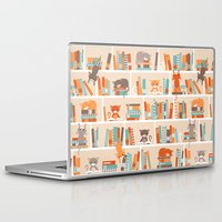 library Laptop & iPad Skins featuring Library cats by Heleen van Buul