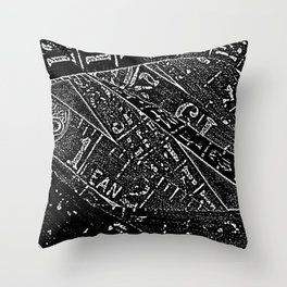 Black & White By Numbers Throw Pillow
