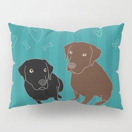 Retriever ChocoBlack Pillow Sham